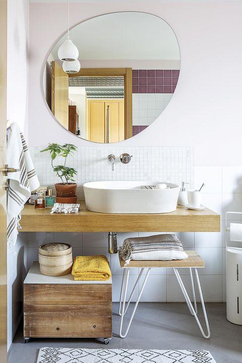 zonas de lavabo mueble de madera moderno