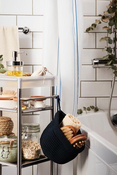 baño moderno de ikea carrito auxiliar