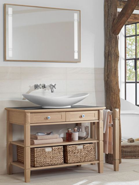 Lavabo con mueble y zona de alamcén