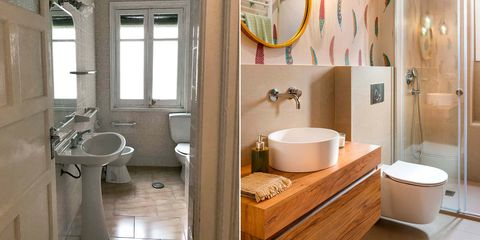 baño desactualizado antes y después de la reforma