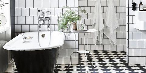 Cuartos De Baño En Blanco Y Negro Black White Un Dúo