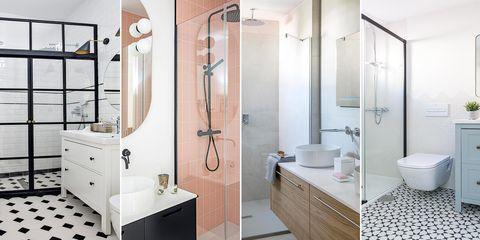cuartos de baño modernos con cabina de ducha