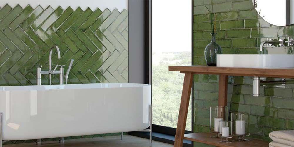 Viva El Paso >> Cuartos de baño en color verde - Decorar con color