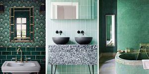 Baños de color verde en Instagram