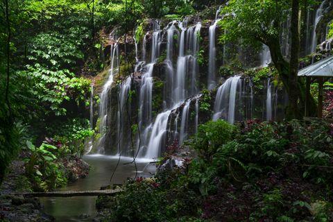 Banyu Wana Amertha waterfall at North Bali area,located at Danau Buyan lake