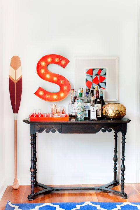 bar cart ideas monogram