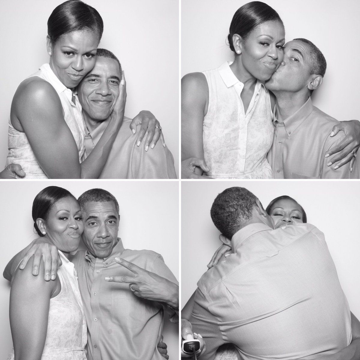 Tag Yourself in These Ridiculously Adorable Barack and Michelle Obama Photo Booth Pictures