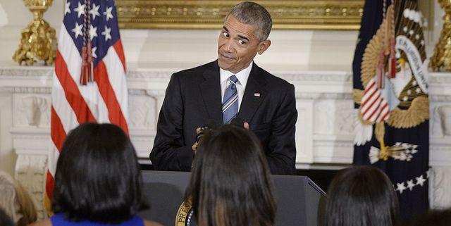 barack obama spreekt tegen vrouw en dochters