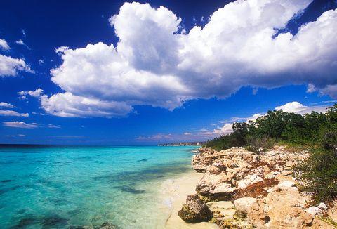 Sky, Body of water, Sea, Blue, Nature, Cloud, Tropics, Beach, Ocean, Shore,