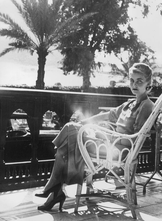 7th february 1939  american socialite and woolworth heiress barbara hutton 1912   1979, the countess von haugwitz reventlow, relaxes on the balcony of the mena house hotel in cairo, where she is spending a holiday  photo by keystonegetty images