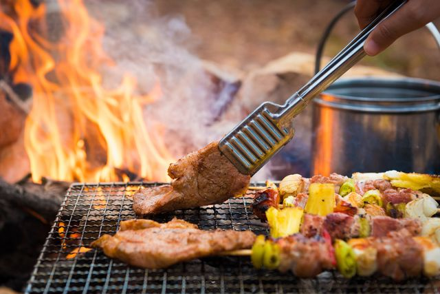 barbecue in the campground