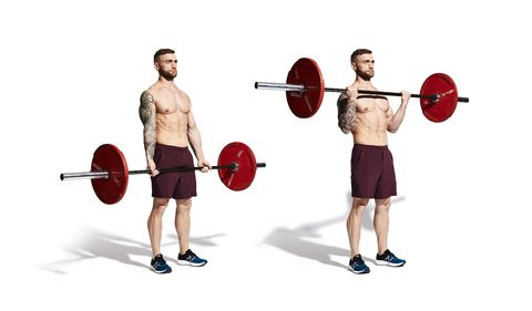 Arm, Weightlifter, Human leg, Physical fitness, Chin, Sport venue, Shoulder, Elbow, Weights, Chest,