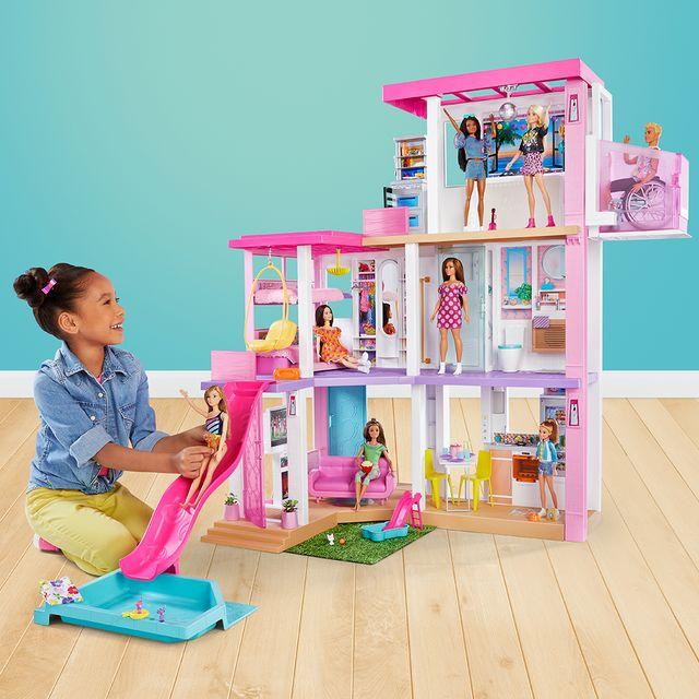 barbie dreamhouse pink dollhouse 2021