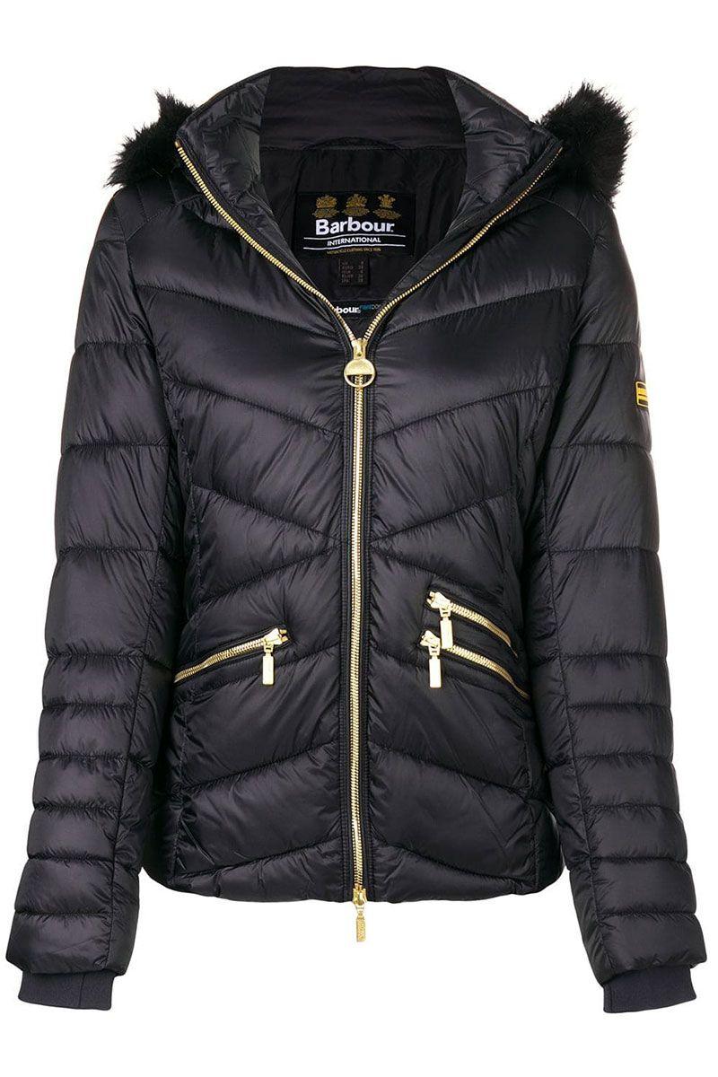 Barbour black puffer jacket