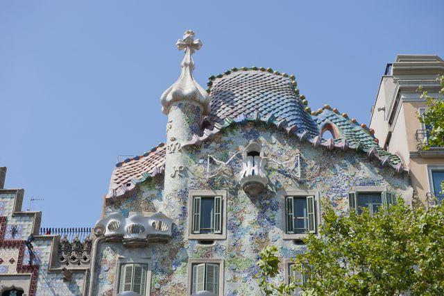 art nouveau architettura casa battlo, antoni gaudi