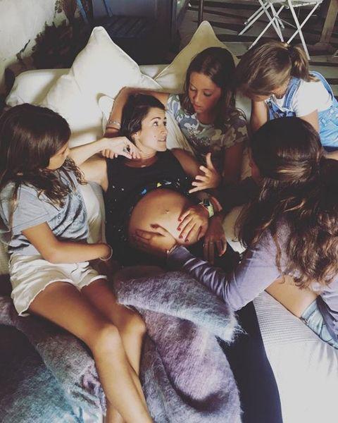 Friendship, Youth, Snapshot, Fashion, Fun, Leg, Black hair, Thigh, Photography, Long hair,