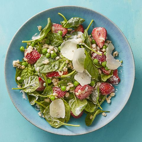 hearty salad recipes - Barley Salad with Strawberries and Buttermilk Dressing Recipe