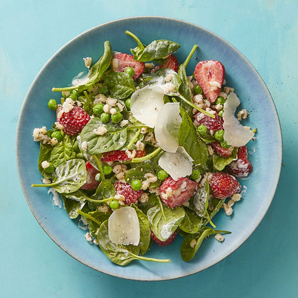 Barley Salad with Strawberries and Buttermilk Dressing Recipe