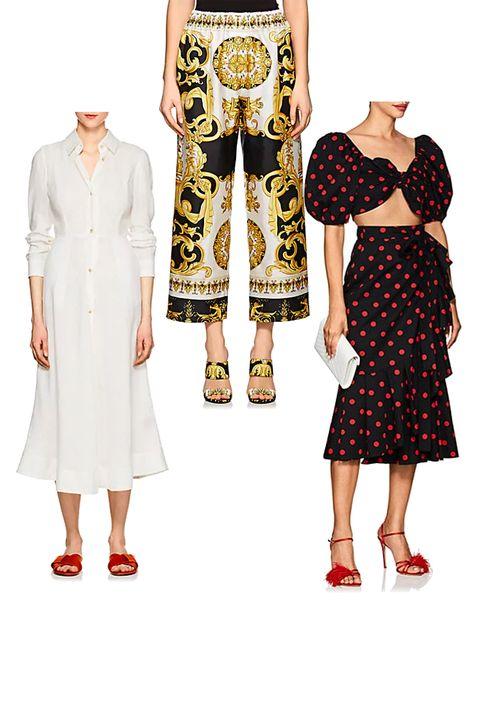 Clothing, White, Footwear, Fashion, Pattern, Dress, Design, Sleeve, Pattern, Trousers,