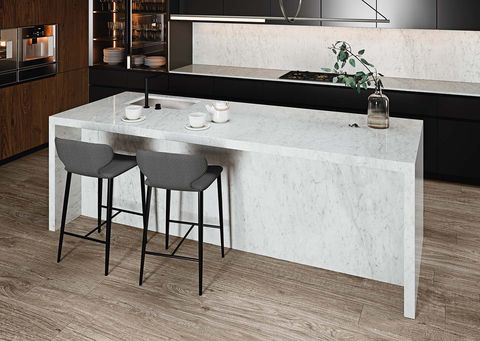 Cocina de marmol