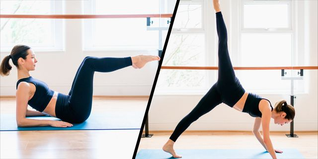 barre floor moves to do at home