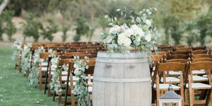 barrel outdoor wedding decor