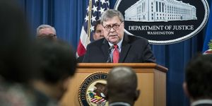 Attorney General William Barr Makes Announcement On Cyber-Related Law Enforcement Action