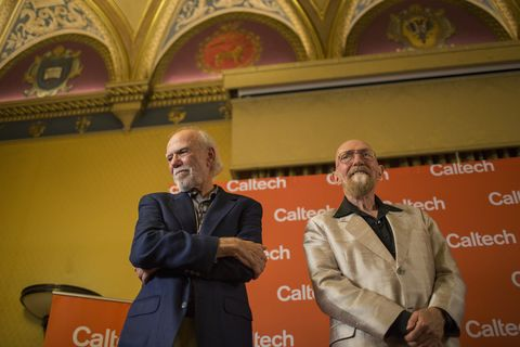 Caltech professors Kip Thorne and Barry Barish win the Nobel Prize in Physics
