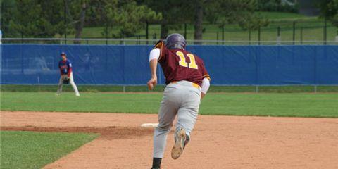 Baseball player running