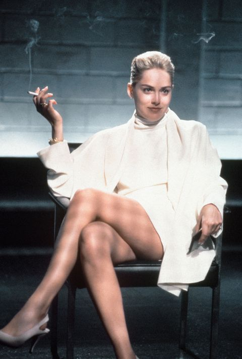 actrice sharon stone in de film basic instinct