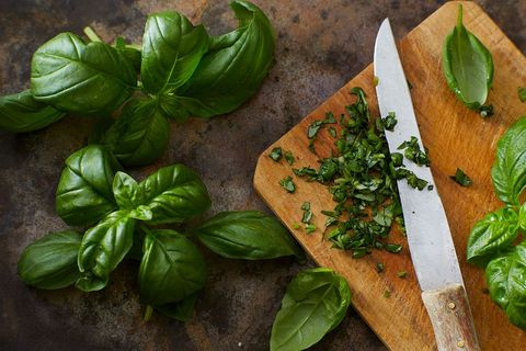 Food, Basil, Ingredient, Vegetable, Herb, Vegetarian food, Cuisine, Dish, Produce, Plant,