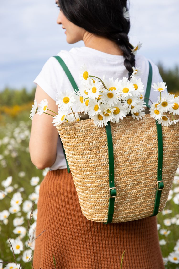 basket backpack diy gift idea