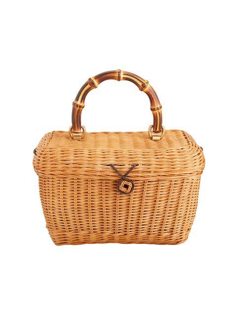 Bag, Handbag, Wicker, Fashion accessory, Beige, Shoulder bag, Basket, Picnic basket,