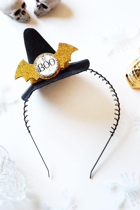 bat witch headband diy witch costume