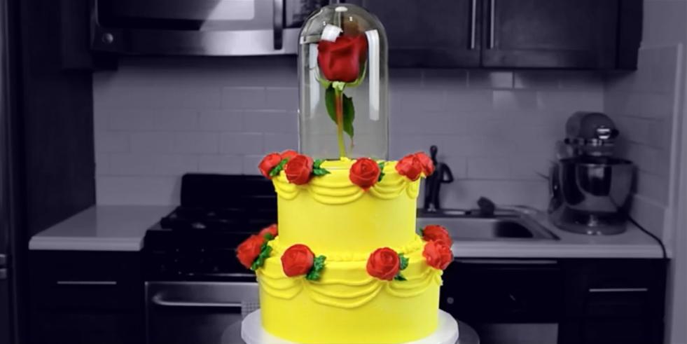 Beauty and the Beast Cake Beauty and the Beast Dessert Ideas