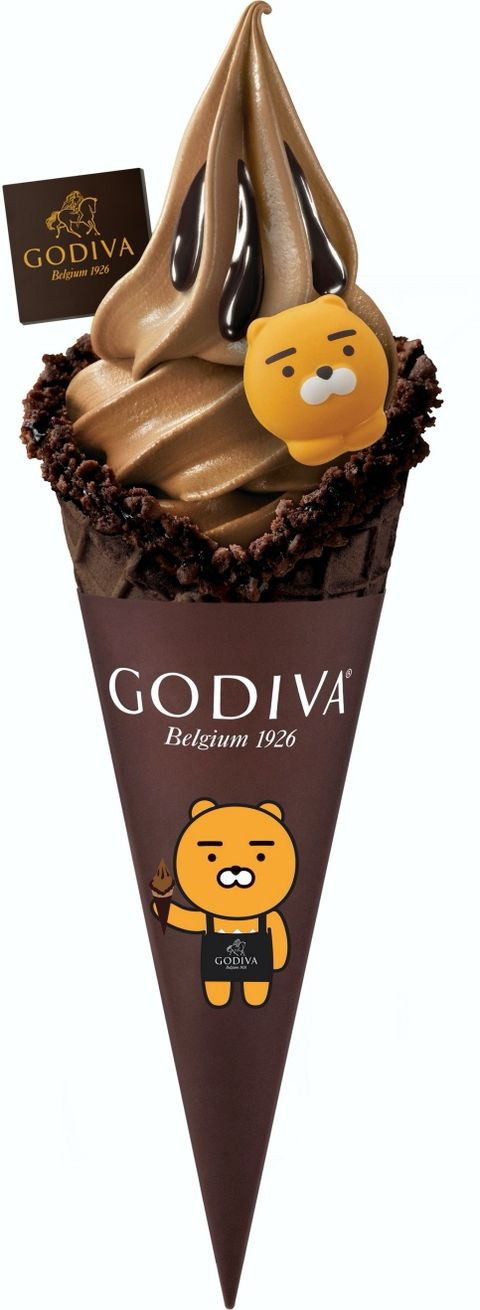 godiva x kakao friends 黑巧克力霜淇淋