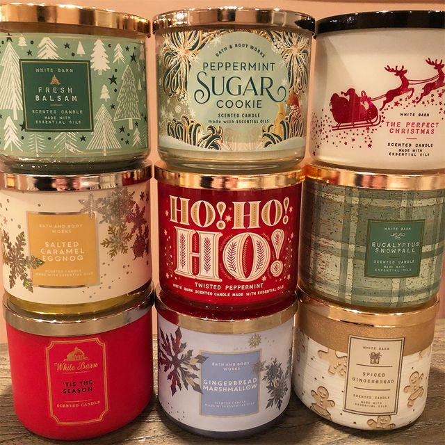 bath  body works 2020 christmas and winter candles