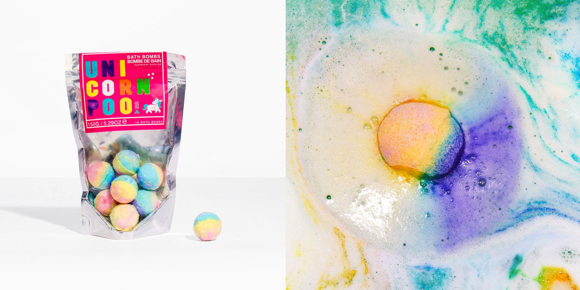 """Unicorn Poo"""" Bath Bombs Will Your Baths So Much More Magical"""