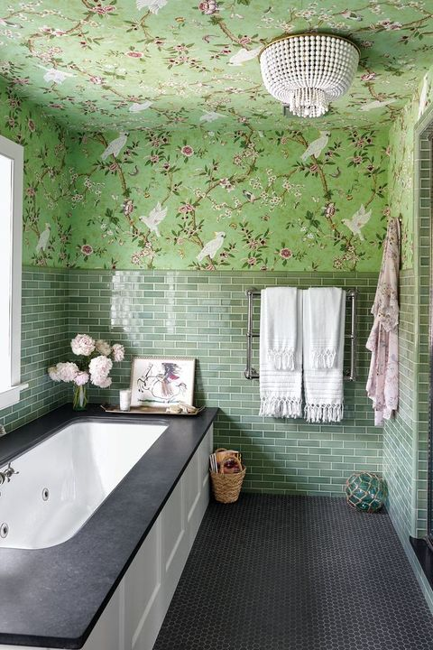 green master bathroom