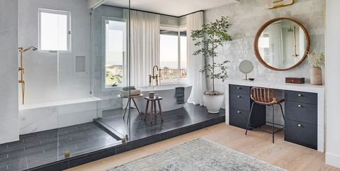 Room, Property, Interior design, Bathroom, Ceiling, Building, Floor, Furniture, House, Tile,