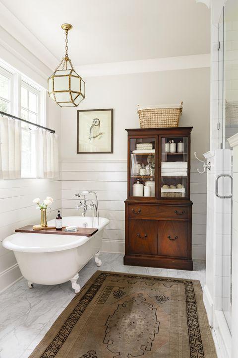 bathroom with armoir