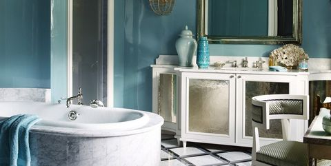 The Most Gorgeous Bathroom Paint Colors According to Top Designers Best Blue Paint Color For Bathroom on best white color for bathrooms, best yellow color for bathrooms, best blue wall paint for bathrooms,