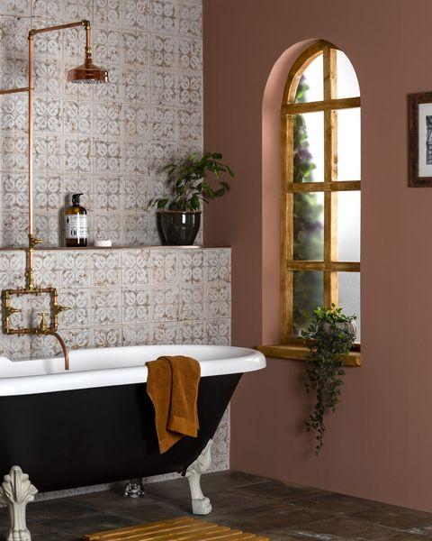bathroom colours   walls and floors , anchor chalk tiles, £2995