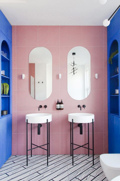 21 Bathroom Mirror Ideas For Every, How To Stick A Mirror Bathroom Wall