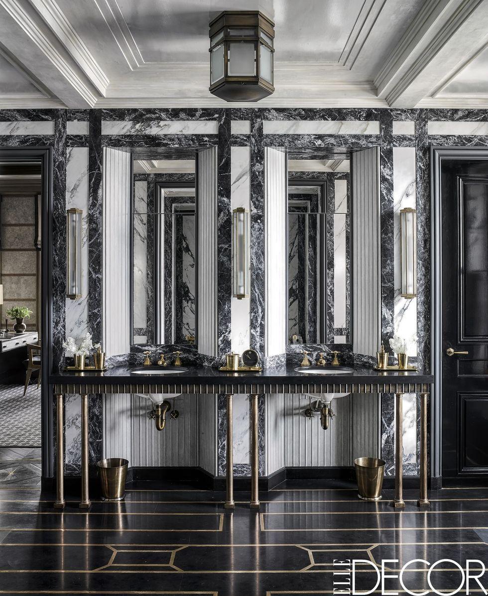 55 bathroom lighting ideas for every style modern light fixtures rh elledecor com 60 Bathroom Mirror and Lighting 60 Bathroom Mirror and Lighting