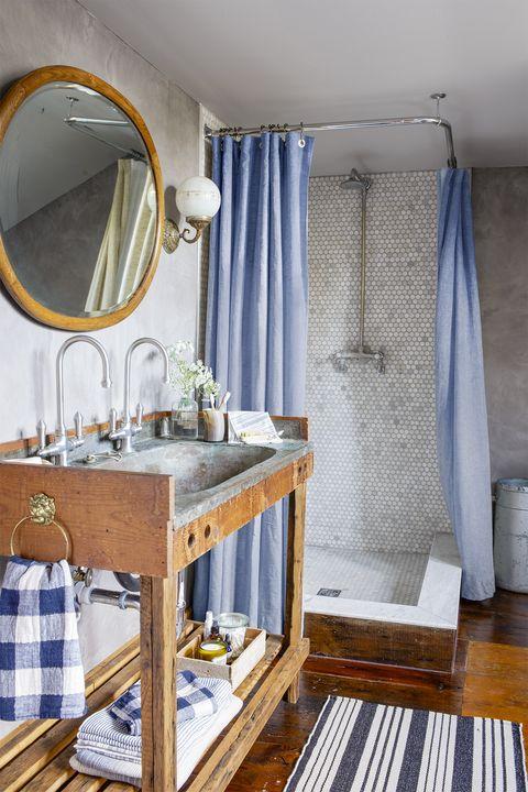 bathroom shelf ideas - low shelf