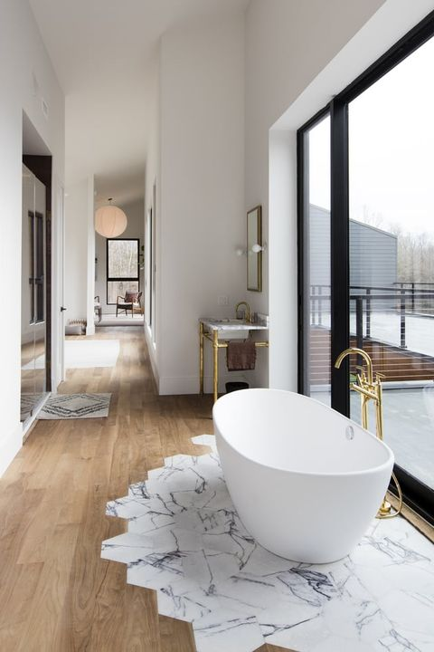 NEW YORK, Amenia, Master Bathroom on second floor at Home of Britt and Damian Zunino