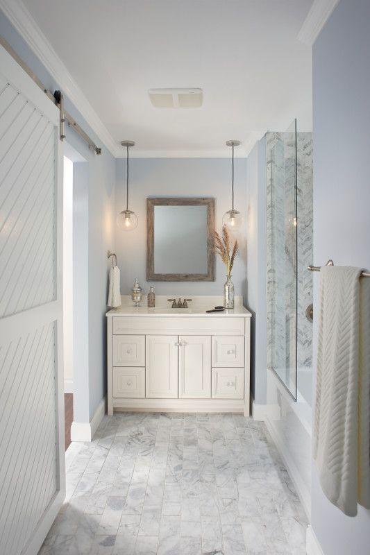 A Bathroom With Broanu0027s Sensonic Wireless Speaker Built In To The Bath Fan