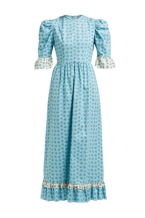 blue floral prairie dress kate middleton