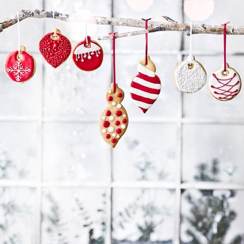 Christmas Bauble Hanging Biscuits